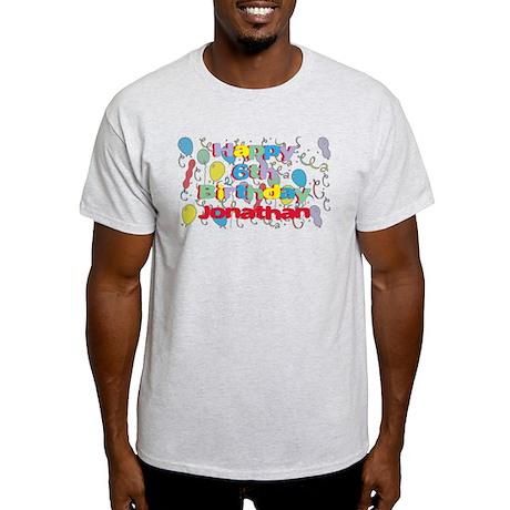 Jonathan's 6th Birthday Light T-Shirt