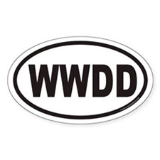 WWDD Euro Oval Decal