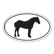 Percheron Oval Decal