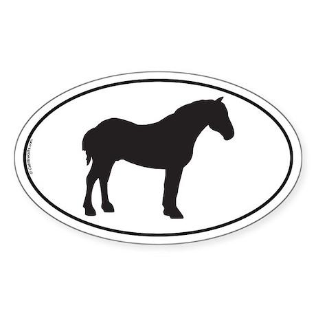 Percheron Oval Sticker