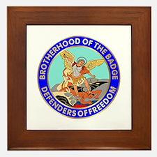 Police Brotherhood Framed Tile