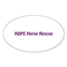 HOPE Horse Rescue Oval Decal
