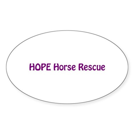 HOPE Horse Rescue Oval Sticker