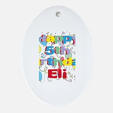 Eli's 5th Birthday Oval Ornament