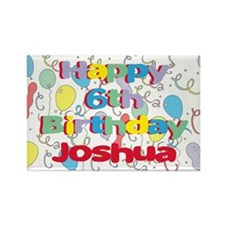 Joshua's 6th Birthday Rectangle Magnet