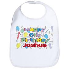 Joshua's 6th Birthday Bib