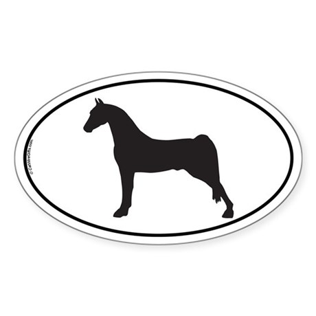 Morgan Horse Oval Sticker