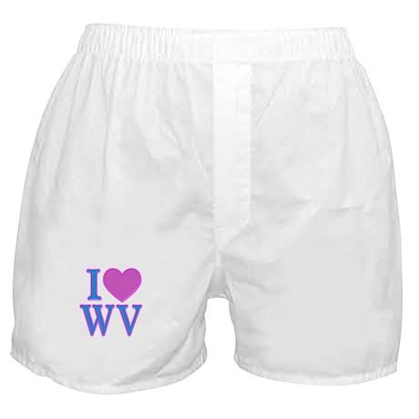I Love WV Boxer Shorts
