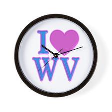 I Love WV Wall Clock