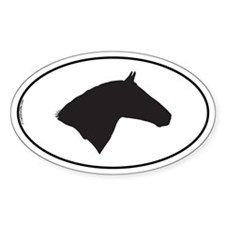 Lipizzaner Oval Decal