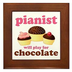 Chocolate Pianist Framed Tile