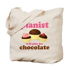 Chocolate Pianist Tote Bag