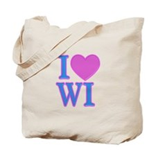 I Love WI Tote Bag