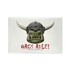 Orcs Rule (2) Rectangle Magnet