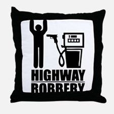 Highway Robbery Throw Pillow