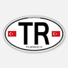 Turkey Euro Oval Decal