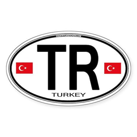 Turkey Euro Oval Sticker (Oval)