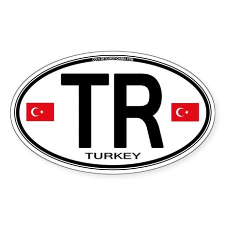Turkey Euro Oval Decal By Intlcarstickers
