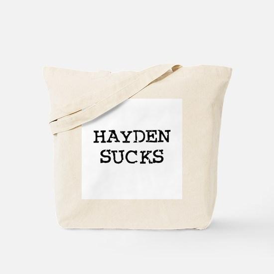 Hayden Sucks Tote Bag