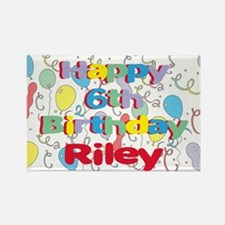 Riley's 6th Birthday Rectangle Magnet