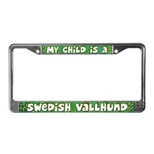 My Kid Swedish Vallhund License Plate Frame