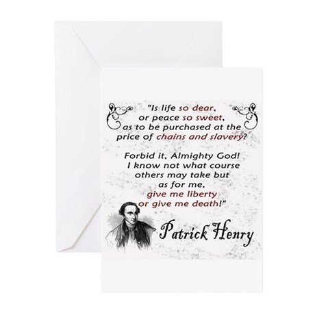 Liberty or Death Greeting Cards (Pk of 20)