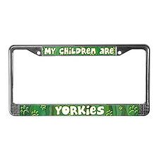 My Children Yorkie License Plate Frame