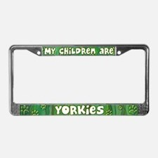 My Children Yorkie License Plate Frame