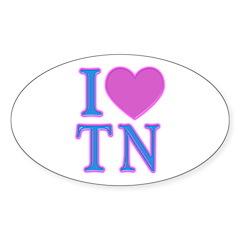 I Love TN Oval Sticker
