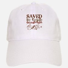 Saved by Grace Baseball Baseball Cap