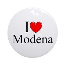 """I Love (Heart) Modena"" Ornament (Round)"