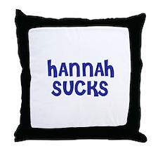 Hannah Sucks Throw Pillow