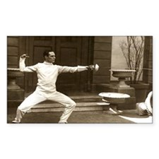 Epee Fencers Fencing Rectangle Decal