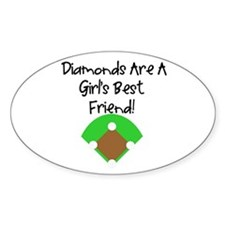 Diamonds Oval Decal