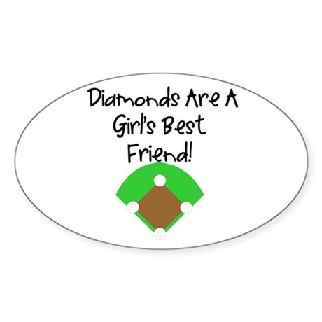 Diamonds Oval Sticker (10 pk)