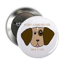 """Adopt a Dog 2.25"""" Button (100 pack)"""