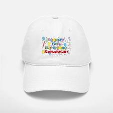 Sebastian's 6th Birthday Baseball Baseball Cap