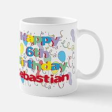 Sebastian's 6th Birthday Mug