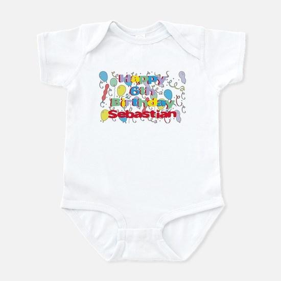 Sebastian's 6th Birthday Infant Bodysuit