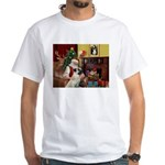Santa/Anatolian Shep White T-Shirt