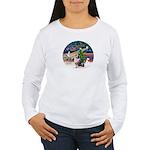 XmasMagic/Aussie (#1) Women's Long Sleeve T-Shirt