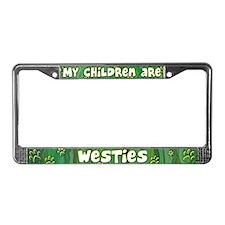 My Children Westie License Plate Frame