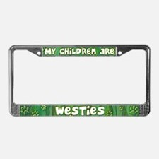 My Children Westie License Plate Frame
