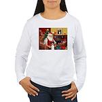 Santa's Tri Aussie (#7) Women's Long Sleeve T-Shir