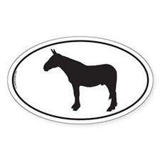 Army Mule Oval Decal