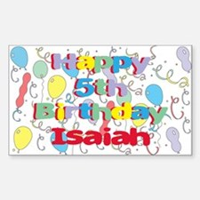 Isaiah's 5th Birthday Rectangle Decal