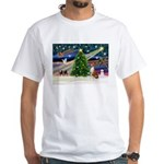 XmasMagic/Basenji #2 White T-Shirt