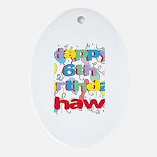 Shawn's 6th Birthday Oval Ornament