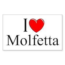 """I Love (Heart) Molfetta"" Rectangle Decal"
