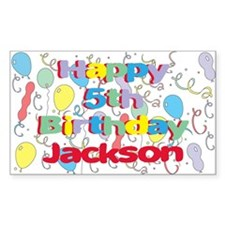 Jackson's 5th Birthday Rectangle Decal